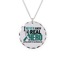 Never Knew a Hero 2 Cervical Cancer Necklace Circl