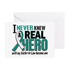 Never Knew a Hero 2 Cervical Cancer Greeting Card