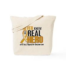 Never Knew a Hero 2 Appendix Cancer Tote Bag