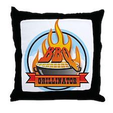 BBQ Grillinator Throw Pillow