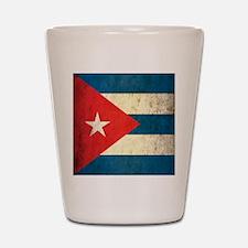 Grunge Cuba Flag Shot Glass