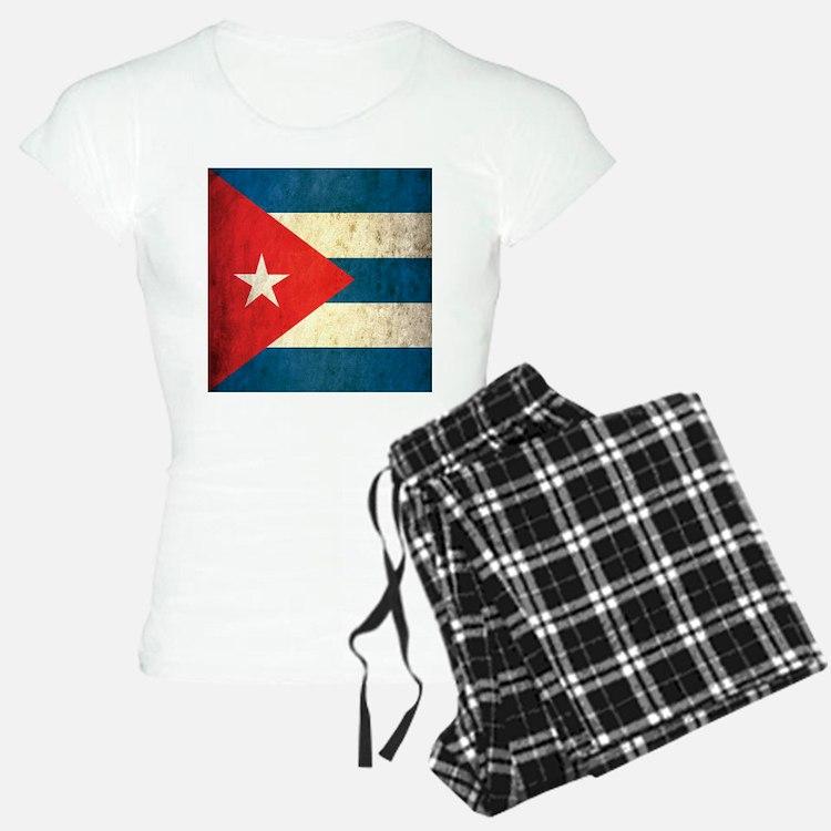 Grunge Cuba Flag Pajamas