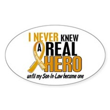 Never Knew a Hero 2 Appendix Cancer Decal