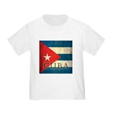 Grunge Cuba Flag T