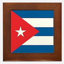 Cuba Flag Framed Tile