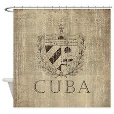 Vintage Cuba Shower Curtain
