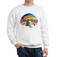Xmusic2-White Boxer (n) Sweatshirt