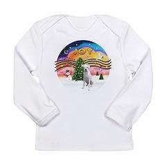 Xmusic2-White Boxer (n) Long Sleeve Infant T-Shirt
