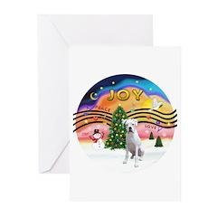 Xmusic2-White Boxer (n) Greeting Cards (Pk of 10)