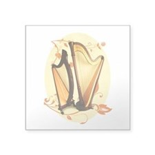 "Harp Love Square Sticker 3"" x 3"""