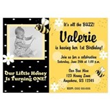 Bumble bee birthday Invitations & Announcements