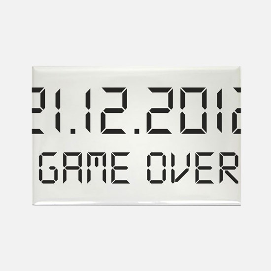 game over - 21.12.2012 Rectangle Magnet