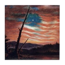 Frederic Edwin Church Banner In The Sky Tile Coast