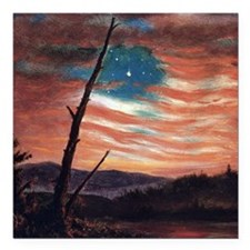 Frederic Edwin Church Banner In The Sky Square Car