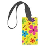 Musician Gift Musical Notes Large Luggage Tag