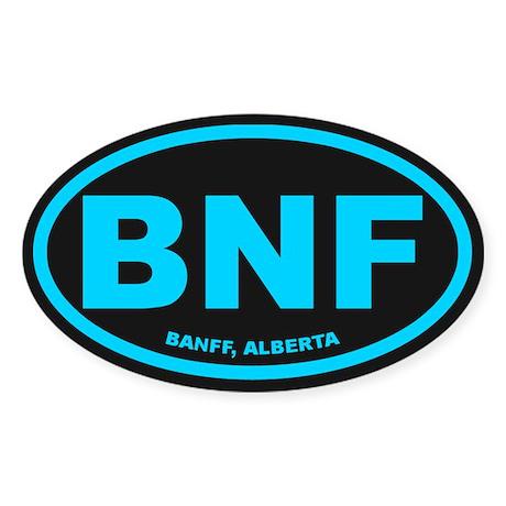 Banff Alberta Oval Sticker (Oval)