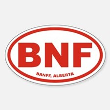 Banff Alberta Oval Decal