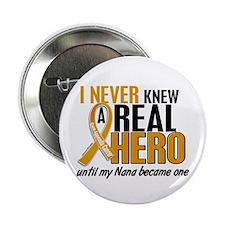 "Never Knew a Hero 2 Appendix Cancer 2.25"" Button ("