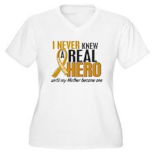 Never Knew a Hero 2 Appendix Cancer T-Shirt