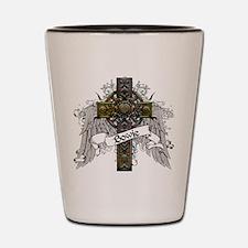 Bowie Tartan Cross Shot Glass