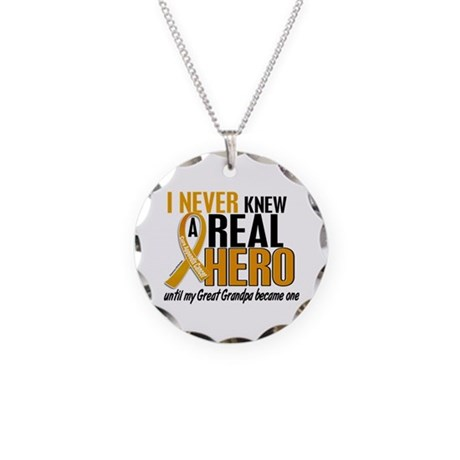 Never Knew a Hero 2 Appendix Cancer Necklace Circl