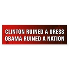 Obama Ruined A Nation Bumper Bumper Sticker