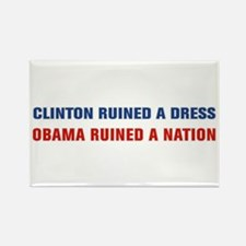 Obama Ruined A Nation Rectangle Magnet