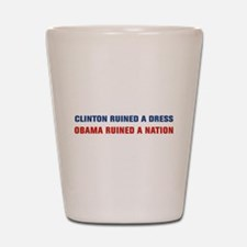 Obama Ruined A Nation Shot Glass