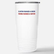 Obama Ruined A Nation Travel Mug