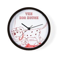 Maroon Dog House Clock Wall Clock