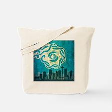 Vintage Seattle Skyline Tote Bag