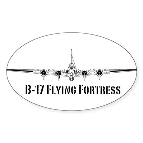 B-17 Flying Fortress Sticker (Oval 10 pk)