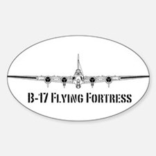 B-17 Flying Fortress Sticker (Oval)