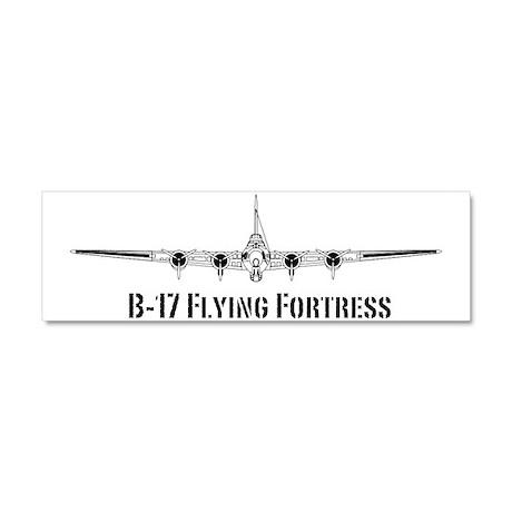 B-17 Flying Fortress Car Magnet 10 x 3