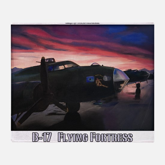 B-17 Flying Fortress Throw Blanket