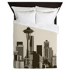 Awesome Seattle Skyline Queen Duvet