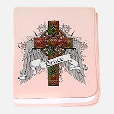 Bruce Tartan Cross baby blanket