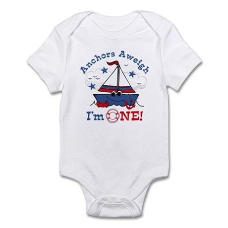 Little Sailboat 1st Birthday Infant Bodysuit