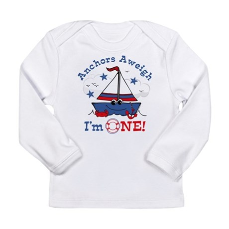 Little Sailboat 1st Birthday Long Sleeve Infant T-
