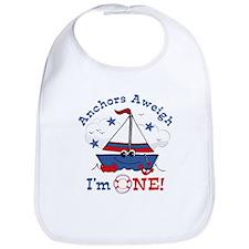 Little Sailboat 1st Birthday Bib