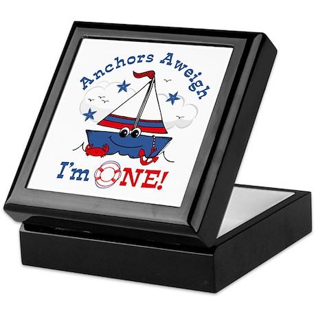 Little Sailboat 1st Birthday Keepsake Box