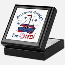 Little Sailboat 1st Birthday Keepsake Box
