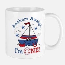 Little Sailboat 1st Birthday Mug