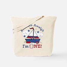 Little Sailboat 1st Birthday Tote Bag