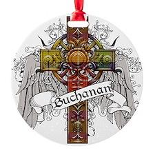 Buchanan Tartan Cross Round Ornament