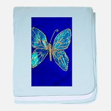 Glitter Butterfly baby blanket