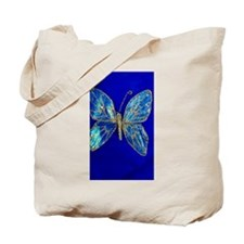 Glitter Butterfly Tote Bag