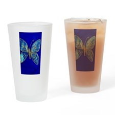 Glitter Butterfly Drinking Glass