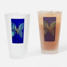 Glitter Butterfly Drinking Glass