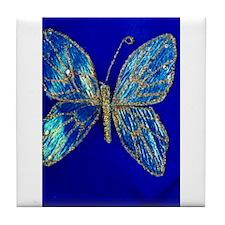 Glitter Butterfly Tile Coaster